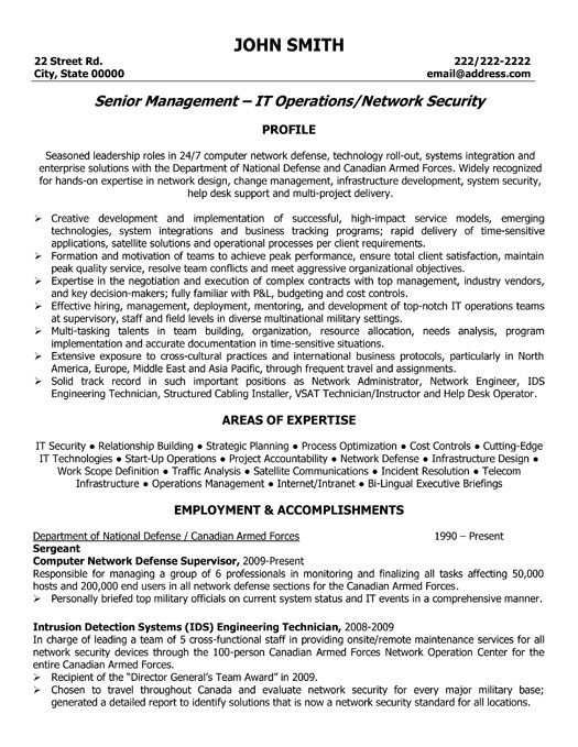 It Resume Sample Security Officer Sample Resume Entry Level It