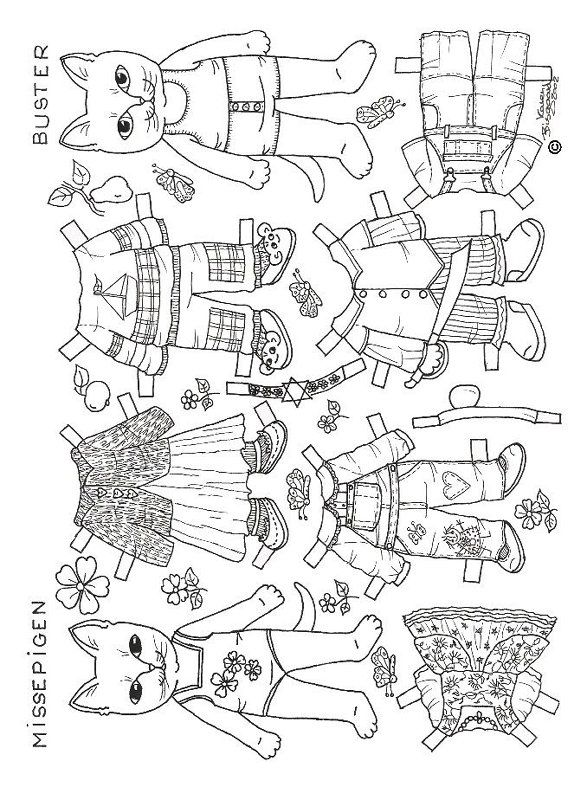 paper dolls to color | ... registration previous image cats paper dolls 8 cats paper dolls 9