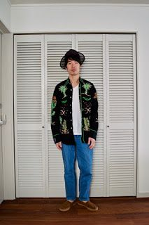 Y's Wardrobe: [USED Uniqlo U scha]古着のシャツに色落ちデニムで初夏を先取り