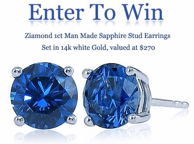 35 best ziamond monthly sweepstakes images on pinterest for Man made sapphire jewelry