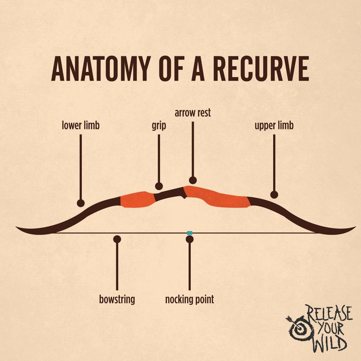 Breakdown of the recurve bow. Get Recurve Bows at https://www.etsy.com/shop/ArcherySky