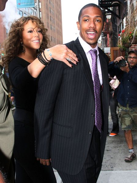 Mariah Carey and Nick Cannon return to their Tribeca apartment following Mariah's appearance on 'The Oprah Show'.