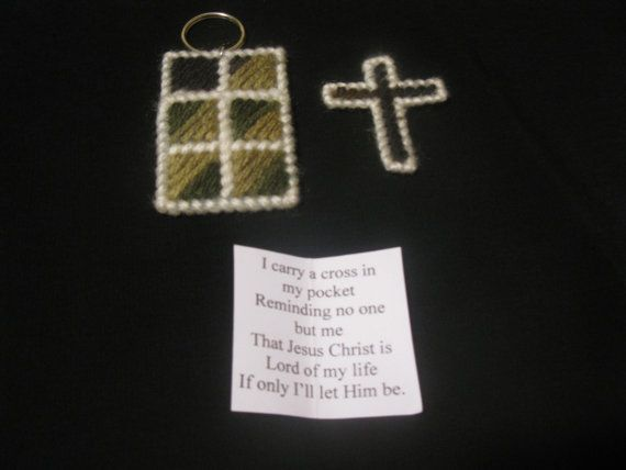 354 best plastic canvas crafts images on pinterest for Cross in my pocket craft