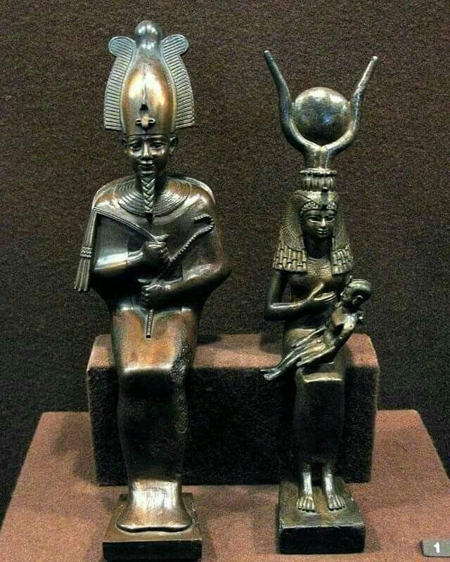 Osiris, Isis, little Horus