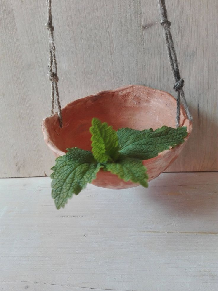 Vase in hearthenware, clay , brown clay/ home decor/for the garden /unique/ design jar/vessel to hang/ hung pan/three different clays kinds di Locreacri su Etsy