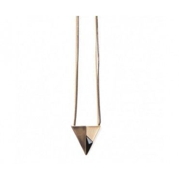 Divided Triangle Pendant $49