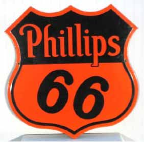 Phillips 66 gas station sign