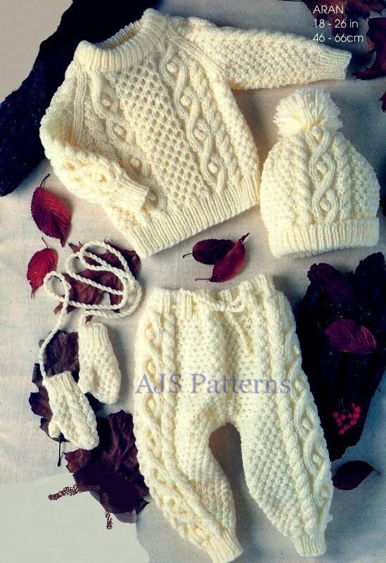 PDF Knitting Pattern for a Baby Pram Set   by place4patterns, £2.50