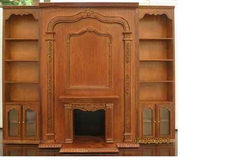 Bespaq Dollhouse Miniature Library Office Furniture Set Book Shelf Fireplace New | eBay (in library. use along with large bookshelf previously pinned)