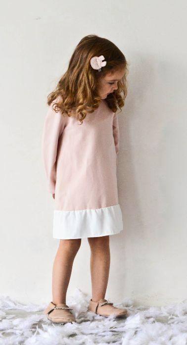 FRILL dress poudre pink - G i r l s