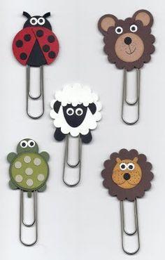 clips para papel con cabeza de animalitos