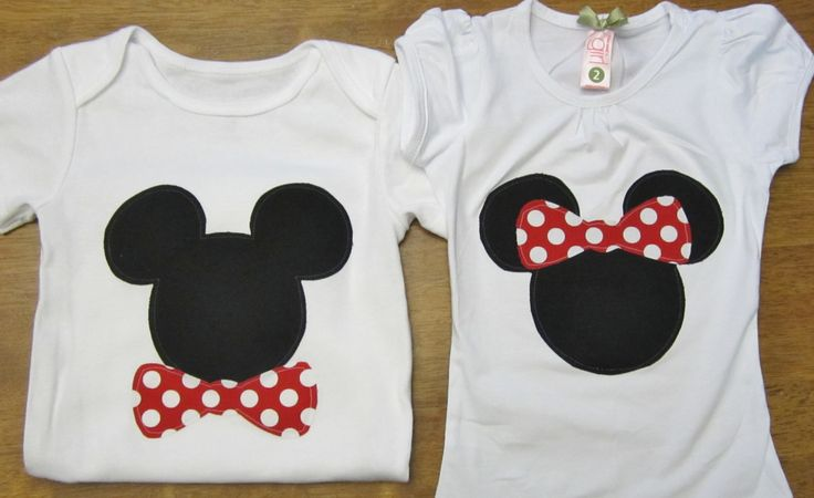 Mickey Minnie Matching Brother/Sister Shirts or by rhondaksmith, $26.99