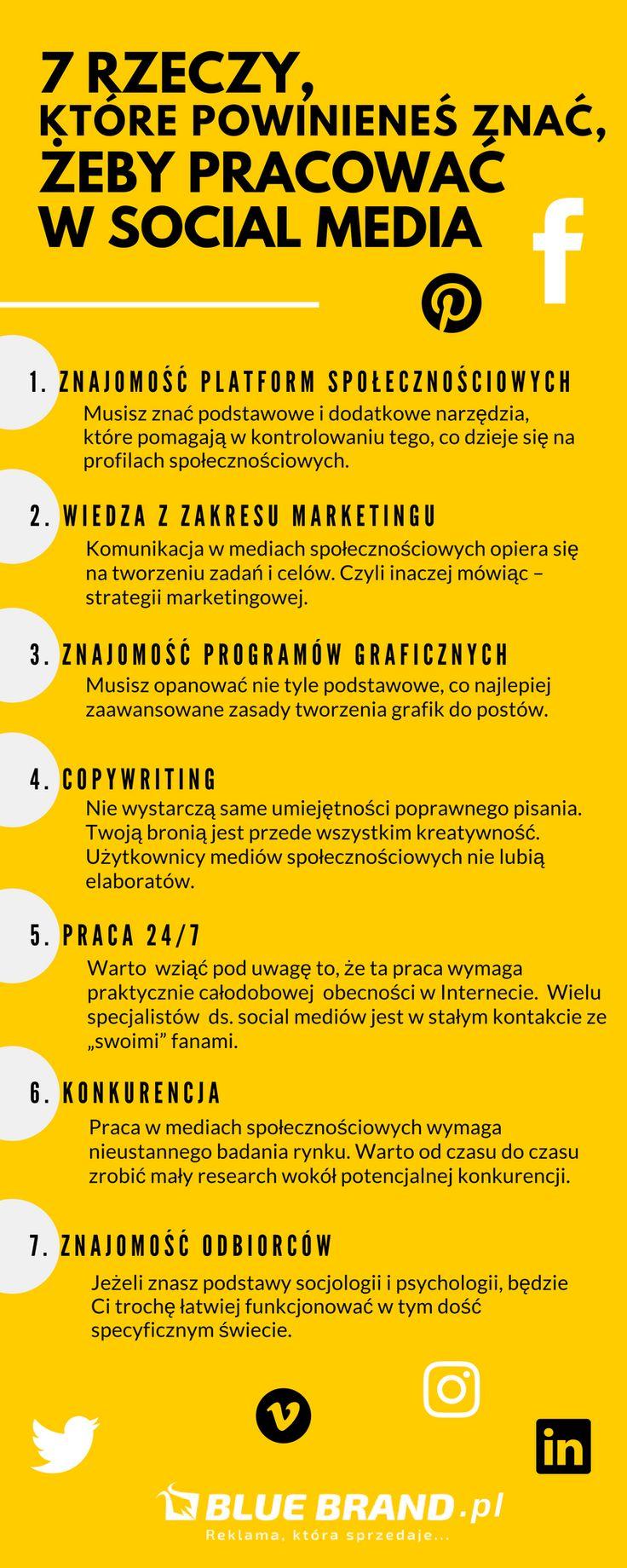 7 rzeczy, które powinieneś znać, żeby pracować w social media - Blue Brand Reklama która sprzedaje