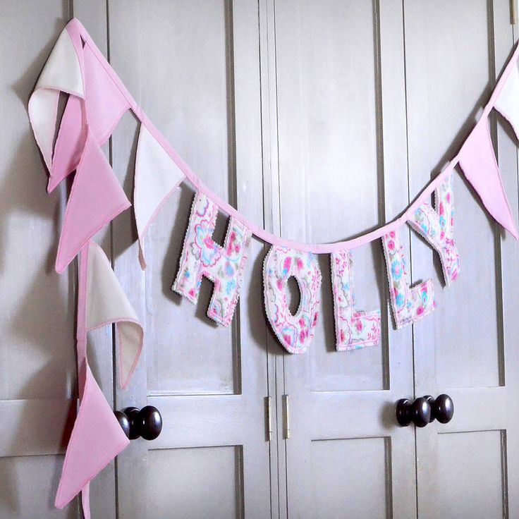 personalised letter bunting by jonny's sister | notonthehighstreet.com ♥️ craft idea
