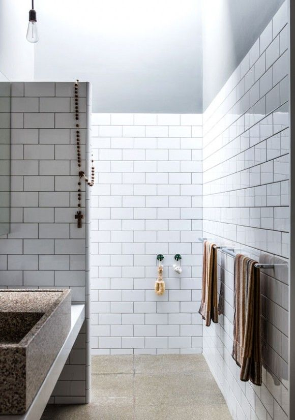 I Especially Love The Open Shower With The Skylight Above And Who Doesn T Love The Crispness Of White Subway Tiles