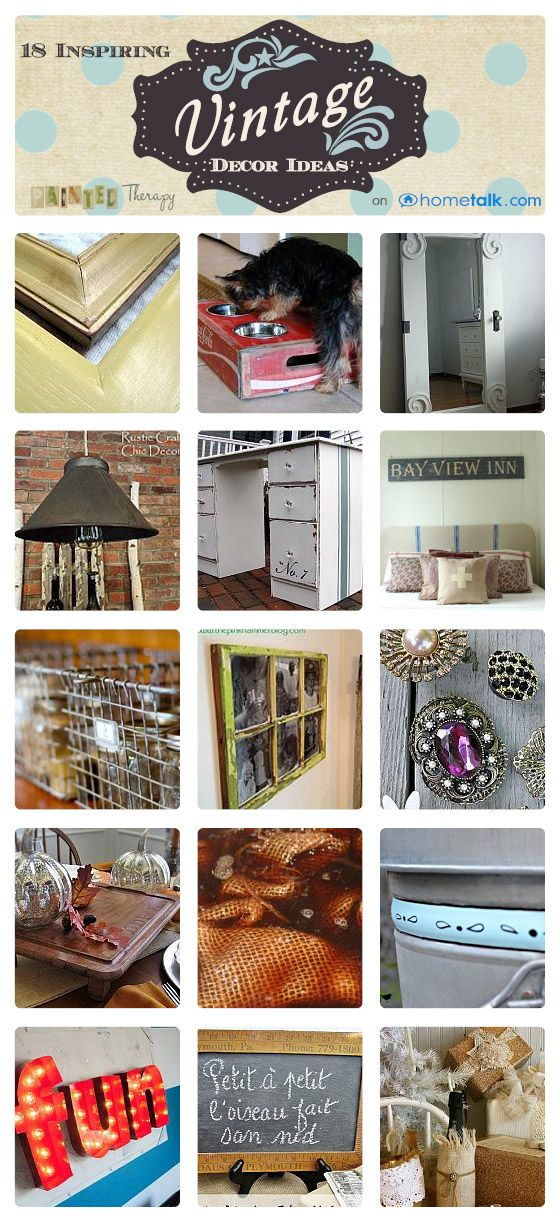 [18 Inspiring Vintage Decor Ideas} | curated by 'Painted Therapy' blog!