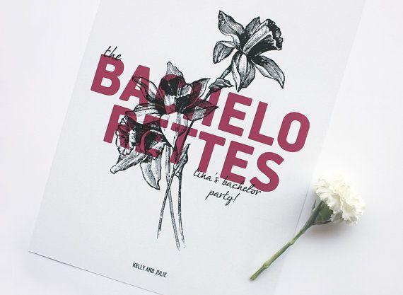 Bachelorettes. Bridal shower gift  Wedding print by MessProject, €19.00  #weddinginvitation #weddingprint #wedding #invitation #diy #piy #monogram #savethedate