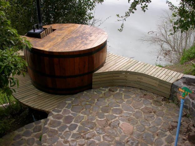 Fotos de tinas de madera tinas calientes hot tubs for Minipiscinas para terrazas