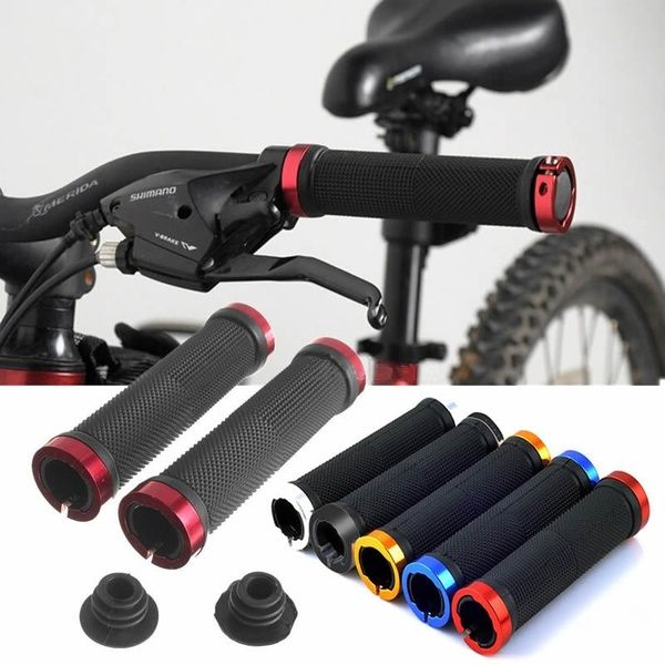 Lock-on Bicycle Grip Handle Bar Bike Handlebar Dual For MTB BMX Mountain Cycling
