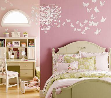 Chandelier & flying butterflies... love it!