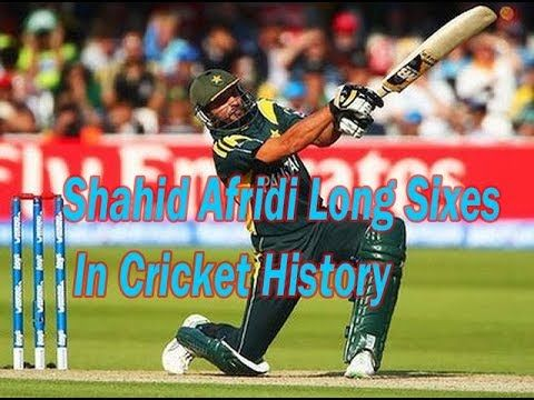 Shahid Afridi Long Sixes In Cricket History
