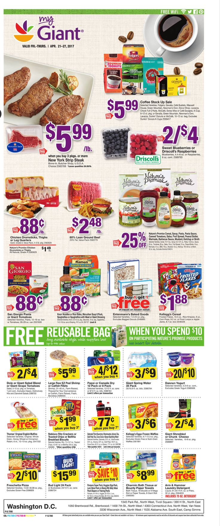 Giant Food Weekly Ad April 21 - 27, 2017 - http://www.olcatalog.com/grocery/giant-food-weekly-ad.html