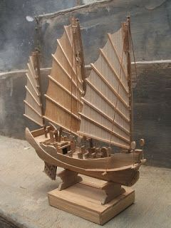 Bamboo Ships: Bamboo Arts and Crafts Ideas : Miniature / Model S...