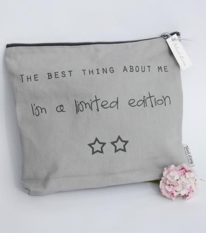 Pack of Three: The best thing about me.  I'm a limited edition Wash Bag perfect bridesmaid gift idea