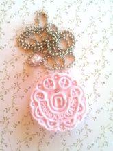 Κολιέ μπισκότο Παπαδοπούλου μίνι φράουλας K15