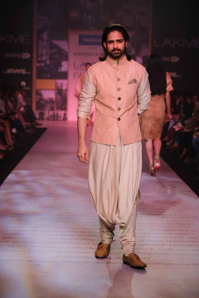 Shantanu & Nikhil Lakme Fashion Week Summer 2014 candy pink shervani. More here: http://www.indianweddingsite.com/shantanu-nikhil-lakme-fashion-week-summer-resort-2014/