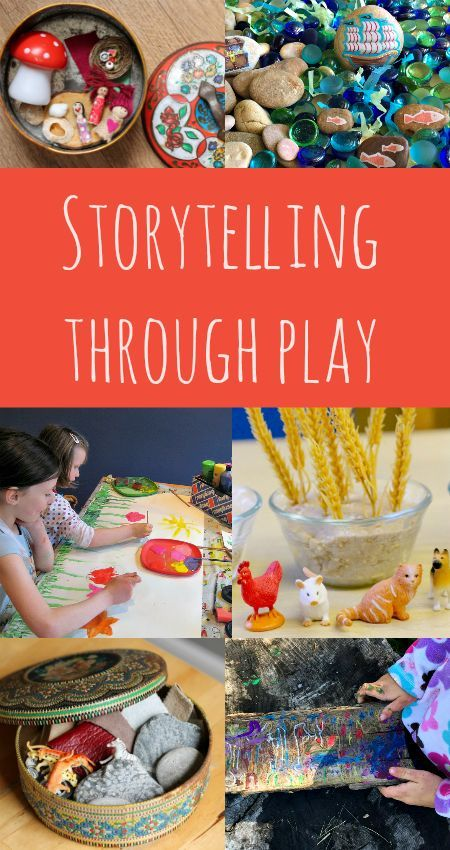 Storytelling through play, story activities, literacy activities,