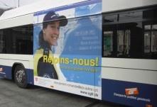 #Affichage sur transport public. #affiche #publicité #douane #impression #autocollant #remarq #suisse