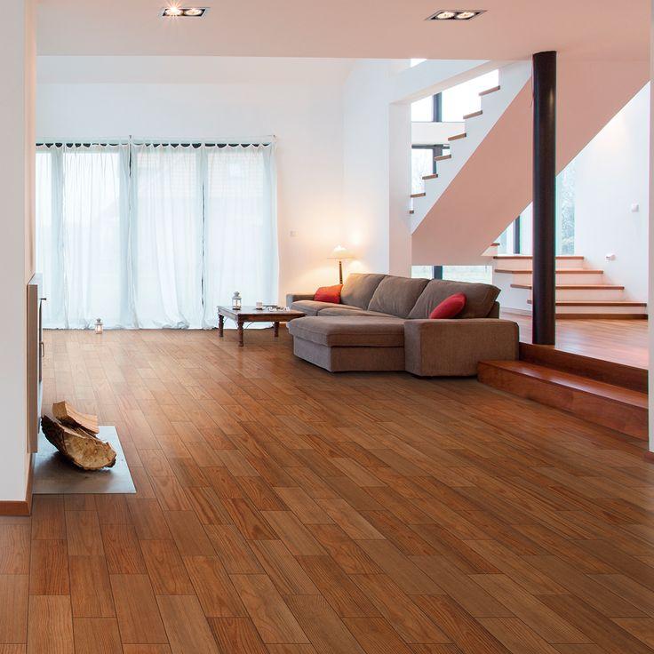 Dale a tu hogar la elegancia natural de los colores madera con el increíble piso Limbert.