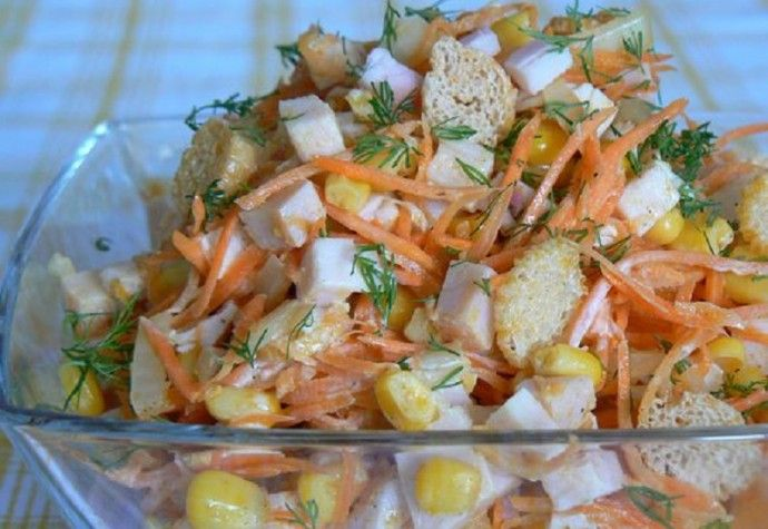 Питательный салат «Карусель» | Colors.life