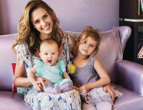 She's one of my fave. <3  Jessica Alba & children.