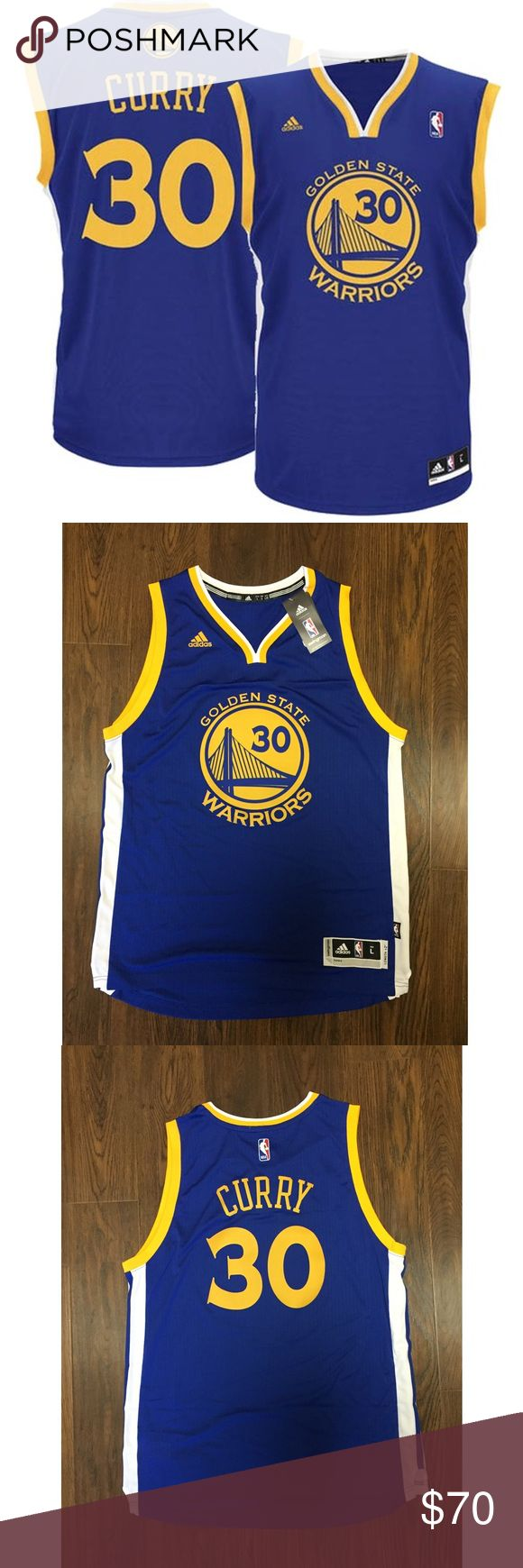Adidas Swingman Steph Curry Mens Basketball Jersey Brand : Adidas   Team : Golden State Warriors   Player : Steph Curry   Color : Blue/Yellow   100% AUTHENTIC   BRAND NEW WITH TAGS adidas Shirts Tank Tops