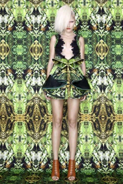 A LAB MILANO    we have said before we are crazy about tropical prints, green, floral and jungle motifs, so this SS 2012 collection it's all that in one, and shown in amazing geometrical but at the same time organic garments… it's perfect for this time of the year!    beautifully done by Alessandro Biasi & Simona Costa.