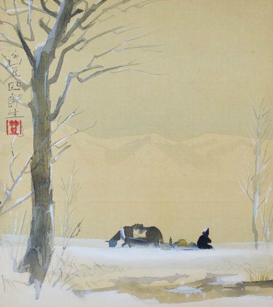 Fukuda Toyoshiro 福田豊四郎 (1904-1970), Sled.