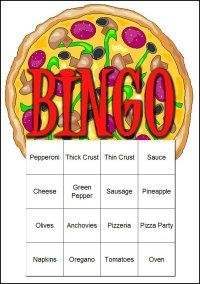 Game #2~Pizza Bingo!