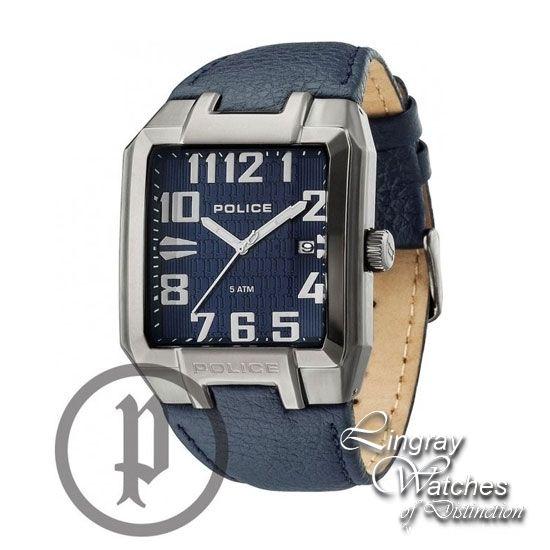 Police Men's Blue Leather Main Street Watch - 13751JSU-03  Online price: £139.00  www.lingraywatches.co.uk