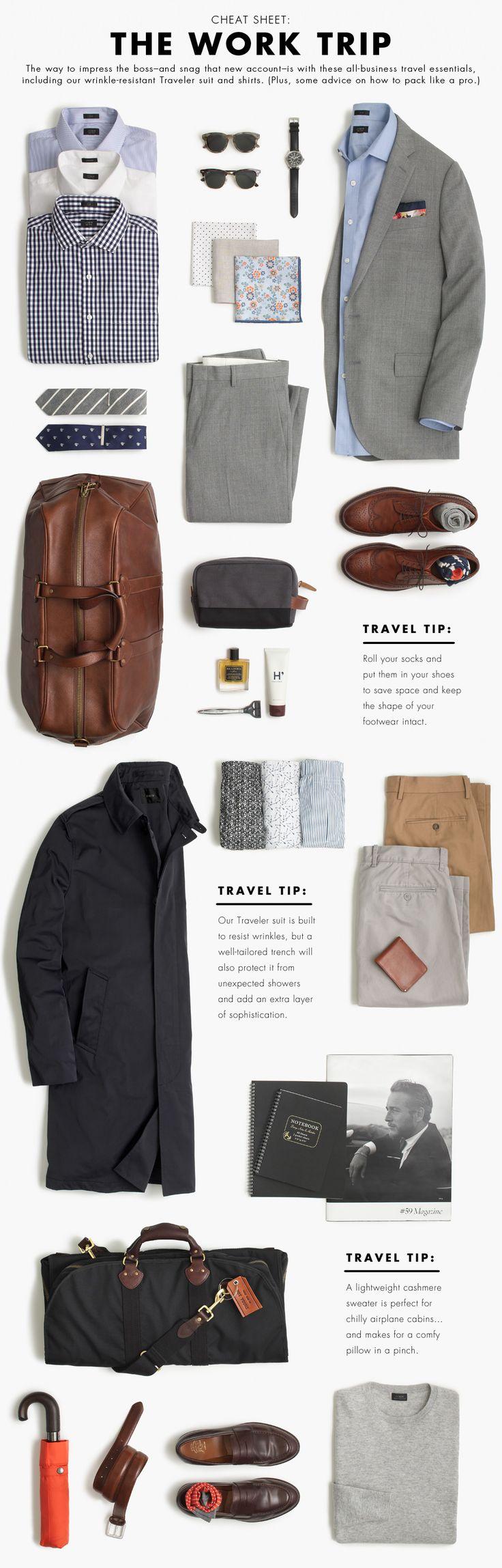 The work trip outfit. | David Shadpour; sencillo y fácil de tener en casa lo sugerido por Shadpour