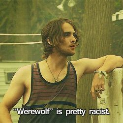 """I prefer sexy beast"" hemlock grove peter and roman werewolf 