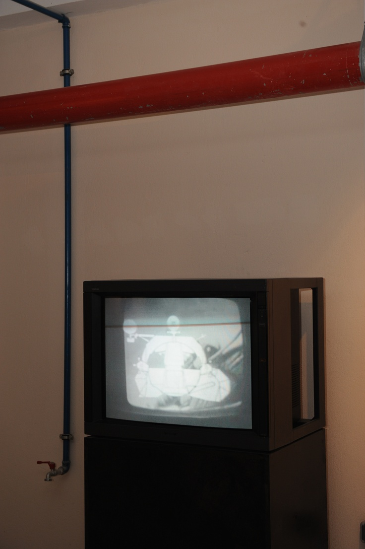 "Ferdinand Kriwet Apollovision, 1969/2005 video, 12'5'' Courtesy: Jörn Bötnagel und Yvonne Quirmbach Gallery, Cologne Installation view, 2nd Athens Biennale 2009 ""Heaven"""