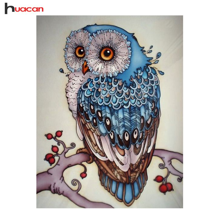 BUY now 4 XMAS n NY. HUACAN,Owl,Diamond Embroidery,Mosaic,Wall Decor,DIY,Rhinestones,Pasted,Diamond Painting,Cross Stitch,Animal,Series,Needle Gifts *~* Locate this beautiful piece simply by clicking the image
