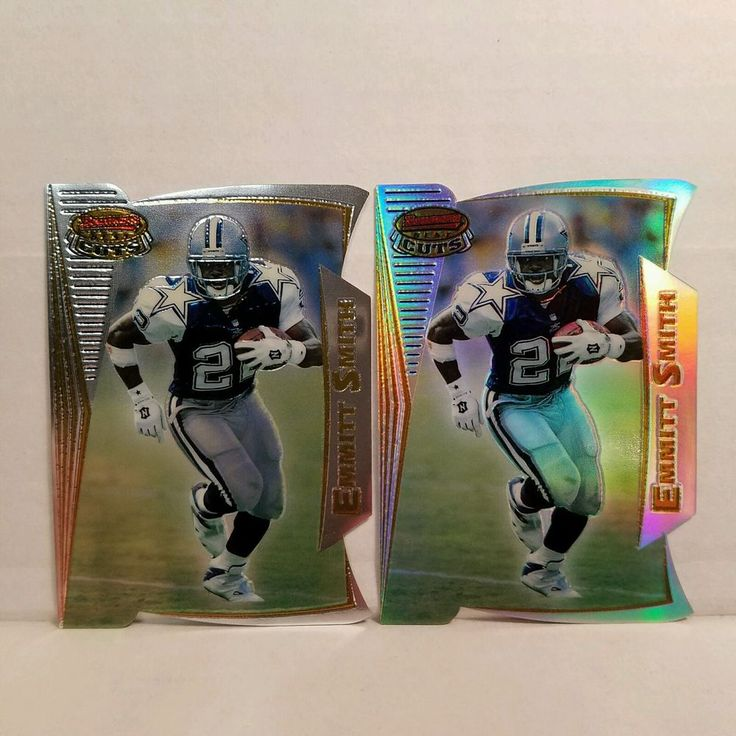 Emmitt Smith Football Cards 1996 Bowman's Best Cuts Regular and Refractor Card #forsale #emmittsmith #footballcard #bowman #bestcusts #refractor #NFL #dallascowboy #ebay #cowboys #sportscard #hof #dallascowboys #football #rarecards #cardcollector http://ow.ly/c9Wq307qUS1