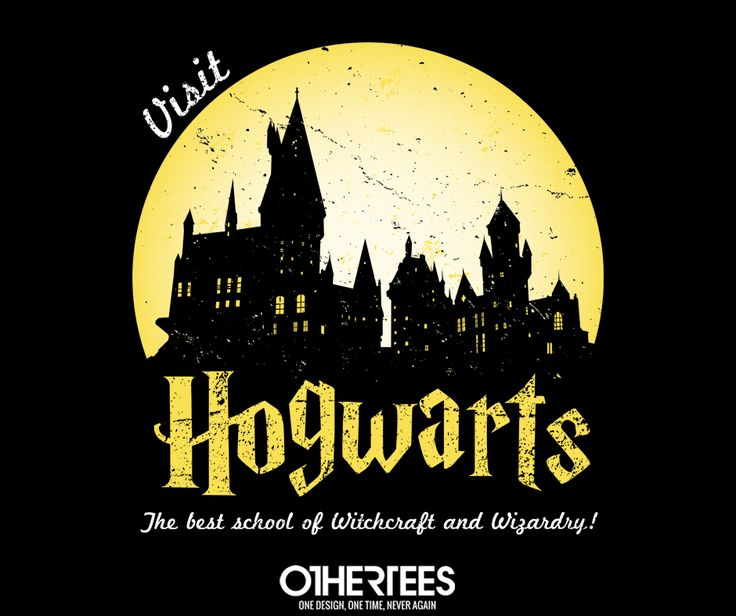"""""""Visit #Hogwarts"""" by alecxps shirts, Tank Tops, V-necks, Sweatshirts and Hoodies are on sale until May 26th at www.OtherTees.com #harrypotter #jkrowling #othertees"""