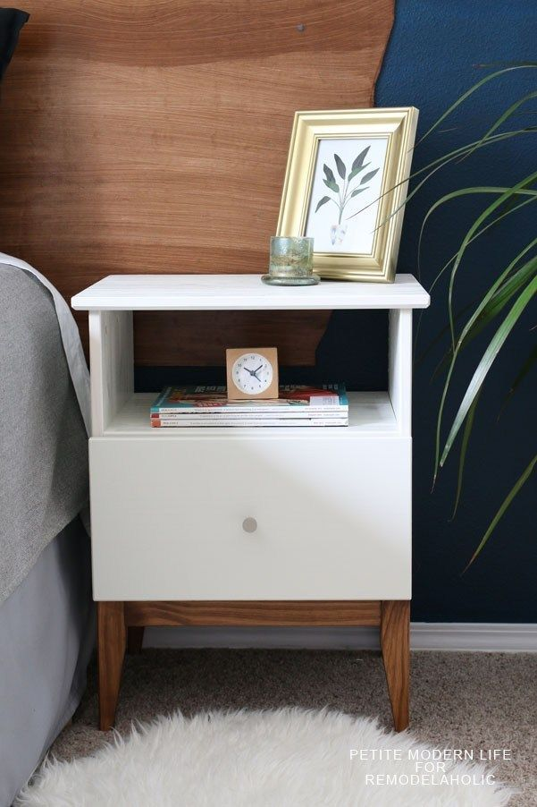 Leichte Mitte Des Jahrhunderts Ikea Tarva Nightstand Hack Diy Meuble Mobilier De Salon Chambre Ikea