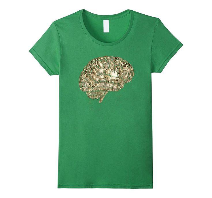 Brain Computer Chipset Information Technology T-Shirt