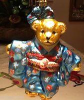 "Christopher Radko "" JAPANESE MUFFY"" vintage ornament Gold tag - stunning -rare"