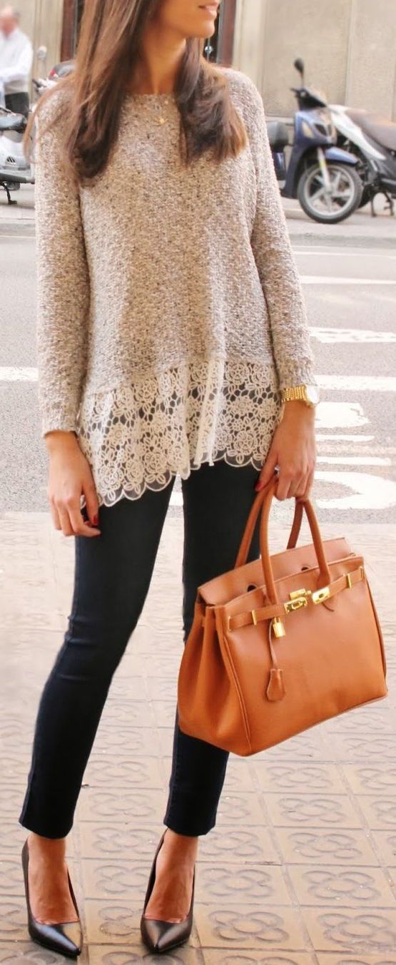 Lace edge shirt